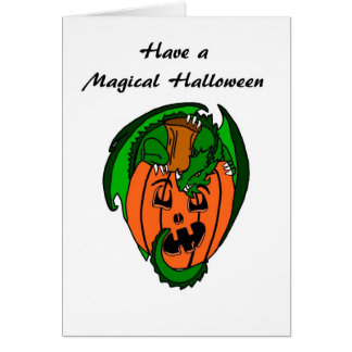 Have A Magical Halloween Dragon Greeting Card