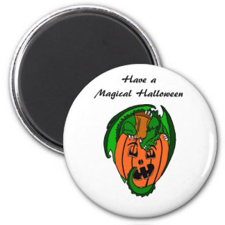 Have A Magical Halloween Dragon Magnet