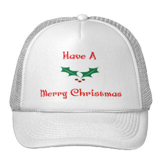 Have A Merry Christmas Mesh Hat