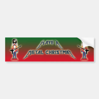 Have A Metal Christmas Bumper Sticker
