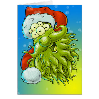 Have a monster Christmas Greeting Cards