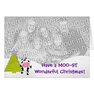 Have a MOO-ST Wonderful Christmas! Card