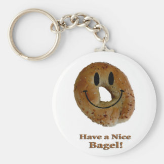 Have a Nice Bagel! Basic Round Button Key Ring