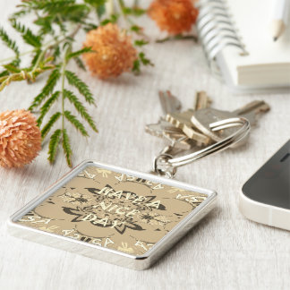 Have a Nice Day and a Better Night Silver-Colored Square Key Ring