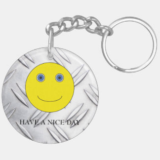 Have A nice day Double-Sided Round Acrylic Key Ring