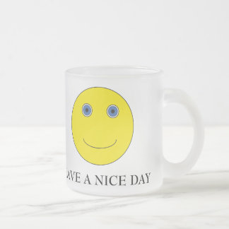 Have A nice day Frosted Glass Coffee Mug