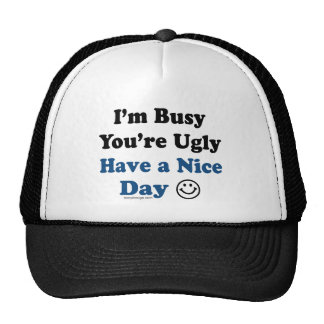 Have a Nice Day Humor Cap