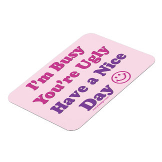 Have a Nice Day Sarcastic Rectangular Photo Magnet