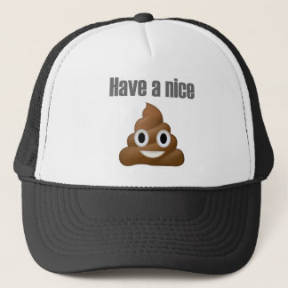 Have a nice poop-emoji - Poo cartoon design Trucker Hat