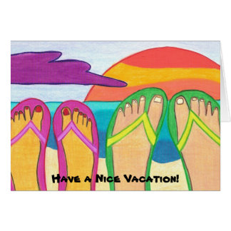 Have a Nice Vacation! greeting card