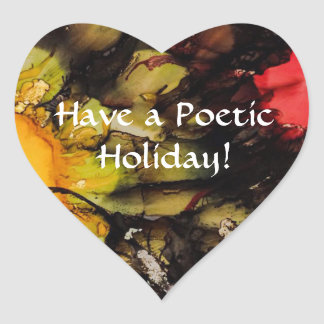 Have a Poetic Holiday - Heart Sticker