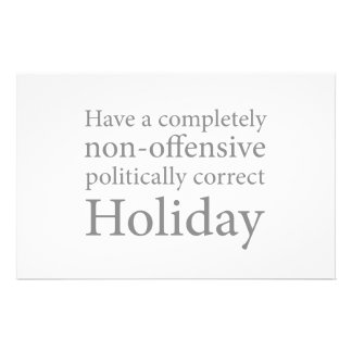 Have a Politically Correct Holiday Stationery Paper