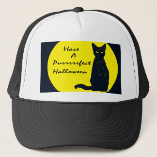Have a PURRfect Halloween! Trucker Hat