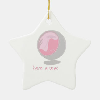 Have A Seat Ceramic Star Decoration