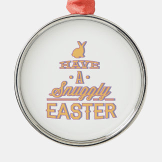 Have A Snuggly Easter Silver-Colored Round Decoration