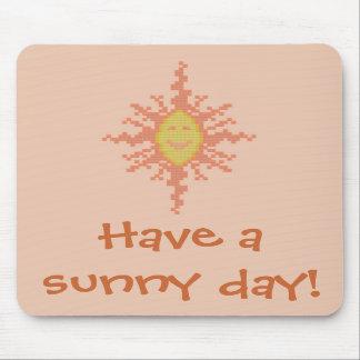 Have a sunny day! Sunburst Mousepad