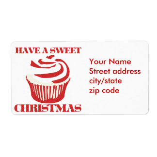 Have a Sweet Christmas Shipping Label