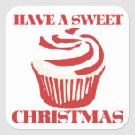 Have a Sweet Christmas Square Sticker