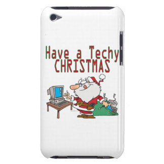 have a techy christmas computer geek santa barely there iPod covers