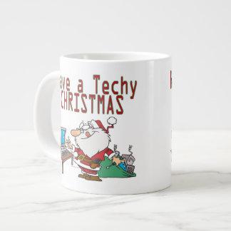 have a techy christmas computer geek santa jumbo mug
