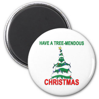 Have a Tree-Mendous Christmas Magnets
