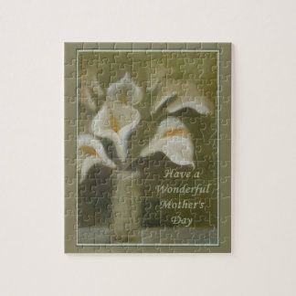 Have A Wonderful Mother's Day - Calla Jigsaw Puzzle