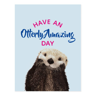 Have an Otterly Amazing Day Cute Otter Photo Postcard