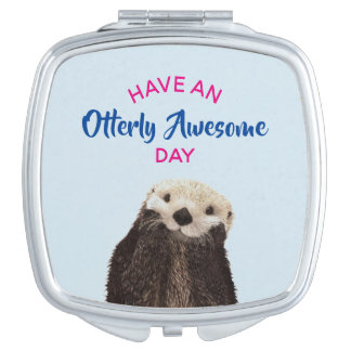 Have an Otterly Awesome Day Cute Otter Photo Vanity Mirror