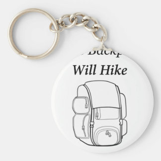 Have Backpack Will Hike Basic Round Button Key Ring