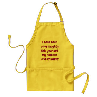 ***HAVE BEEN VERY NAUGHTY/HAPPY HUSBAND*** APRON