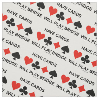 Have Cards Will Play Bridge Four Card Suits Fabric