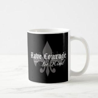 Have Courage & Be Kind - Fleur-de-Lis - Lt Gray Coffee Mug
