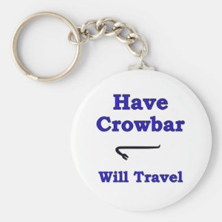 Have crowbar will travel basic round button key ring