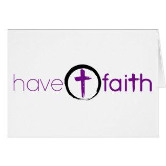 Have Faith Notecard Purple with Circle Cross