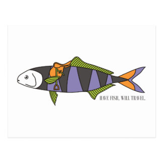 Have Fish, Will Travel postcard