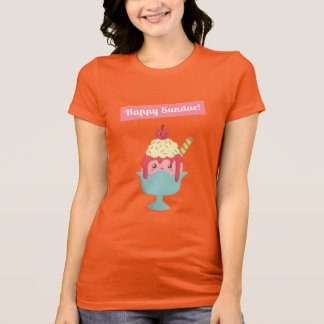 Have fun on Sundays with Cute and Happy Sundae! T-Shirt