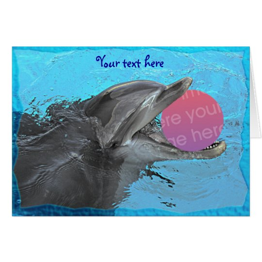 Have fun with a dolphin (template 2) card
