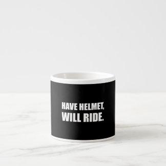 Have Helmet Will Ride White