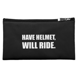 Have Helmet Will Ride White Makeup Bag