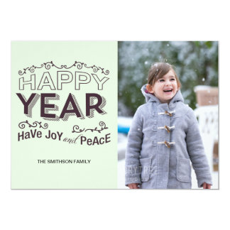 have joy and peace new year card