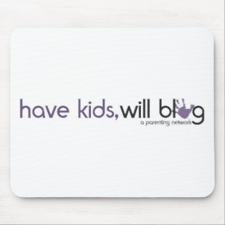 have kids will blog logo mouse pad