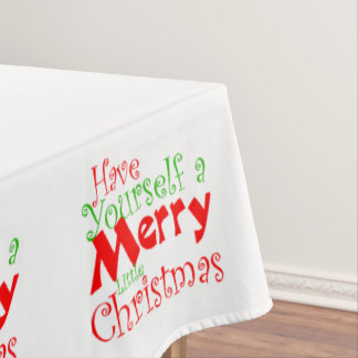 Have Merry Christmas Holiday Tablecloth