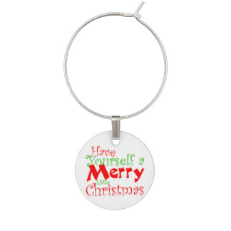 Have Merry Christmas Holiday Wine Charm