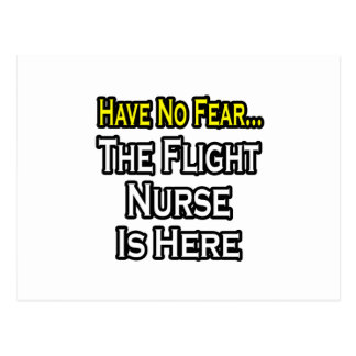 Have No Fear, The Flight Nurse Is Here Postcard