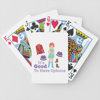 Have Options Bicycle Playing Cards