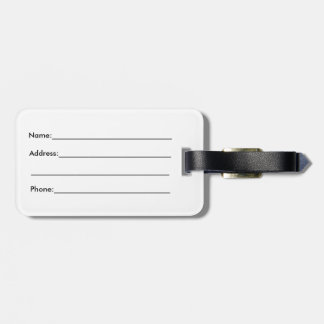 Have Rad Adventures Black Luggage Tag