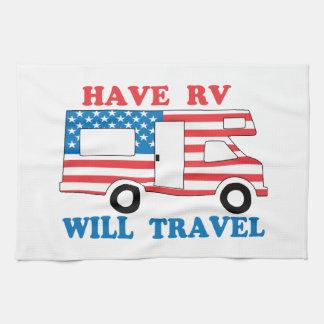 Have RV Will Travel America Kitchen Towel
