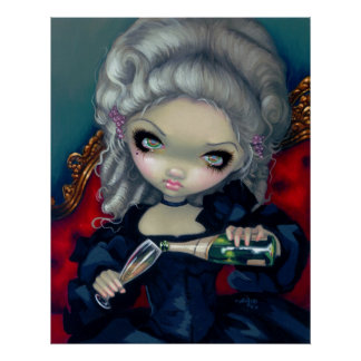 Have Some Champagne ART PRINT gothic rococo