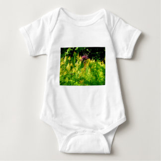 Have the courage to be yourself! Flower in field Baby Bodysuit