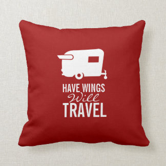 Have Wings Will Travel - Shasta Camper Trailer Cushion